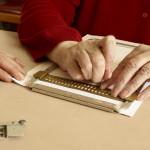 Séance d'écriture braille