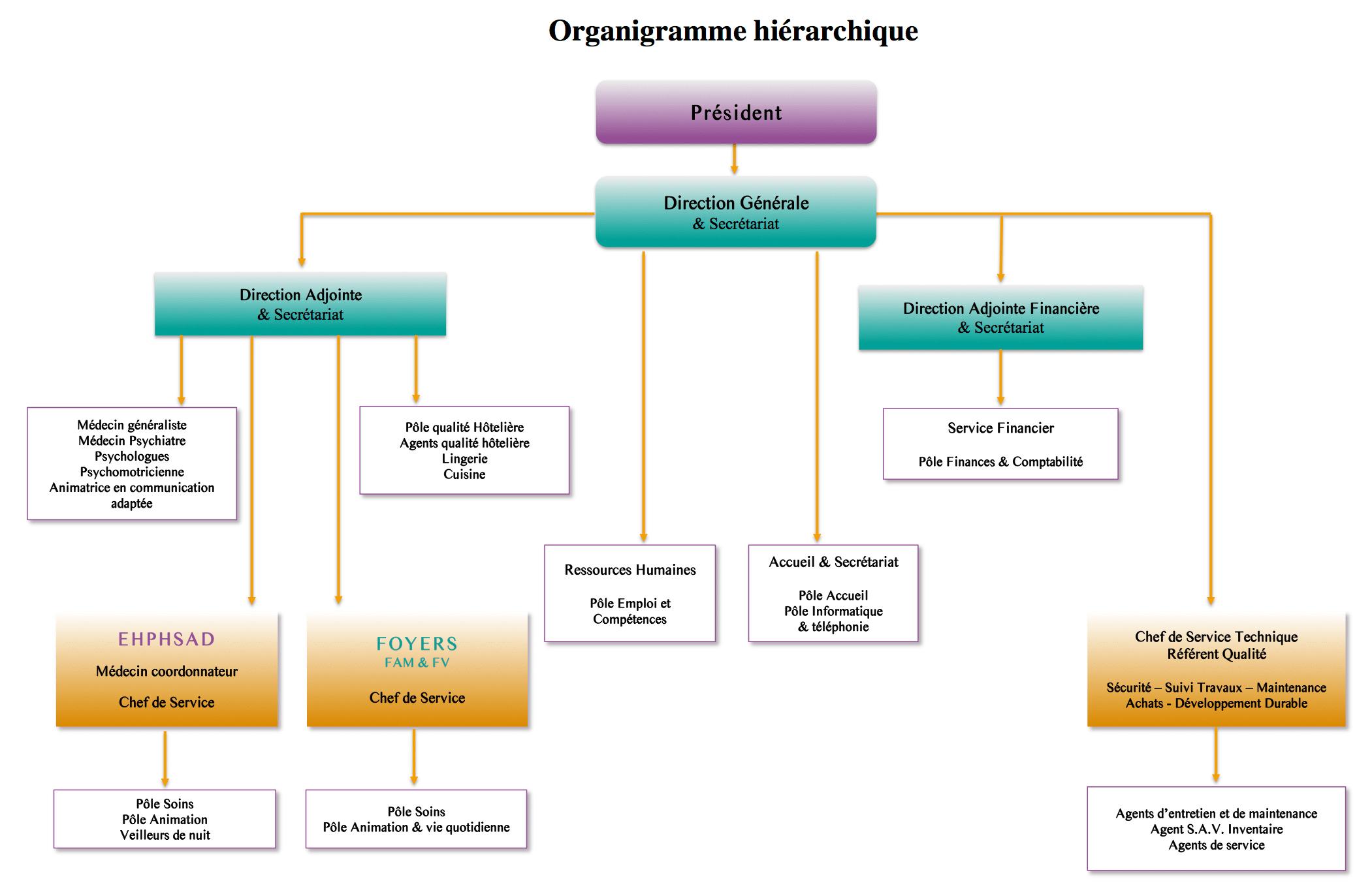 Une quipe pluri professionnelle qualifi e association - Organigramme hierarchique open office ...