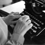 Ecriture sur machine à écrire